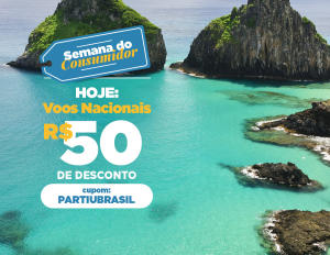 R$ 50 off em viagens nacionais pela MaxMilhas