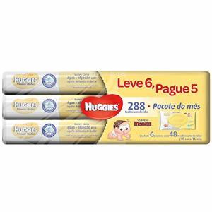 Lenços Umedecidos Huggies Pome, pacotes de 48 toalhas - Leve 6 pague 5 | R$40