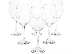 Jogo de taças para vinho vidro 6 peças