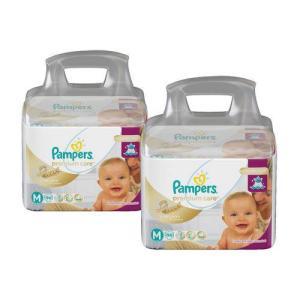 Pampers Premium care M 188 unidades  20% de volta com Ame