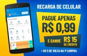 [PRIMEIRO USO] RECARGA DE R$15,00 POR R$0,59(Tim, Oi E Claro)