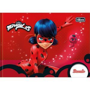 Caderno Brochura Capa Dura Desenho Miraculous: Ladybug 40 Folhas - Sortido (Pacote com 5 unidades) - R$43
