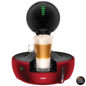Cafeteira Arno Dolce Gusto Vermelha e Preta Multibebidas - DROP - R$387
