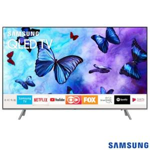 "Smart TV Samsung QLED TV 55"" UHD 4K QN55Q6FNAGXZD - R$ 4000"