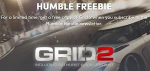 Humble Bundle - Grid 2 grátis (ativa na steam)