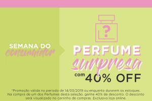 Perfume Surpresa com 40% OFF