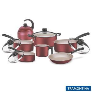 Conjunto de Panelas em Alumínio com 07 Peças Versalhes - Tramontina - R$241