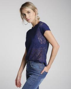 Blusa Renda - azul | R$16