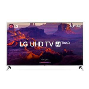 """Smart TV LG 43"""" LED IPS 4K 43UK6520 4 HDMI 2 USB - R$ 1623"""