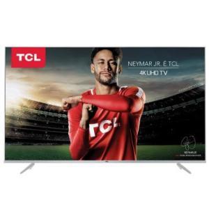 "Smart TV LED 55"" TCL P6US Ultra HD 4K HDR 3 HDMI 2 USB - R$ 2526"