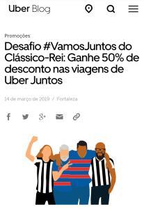 [UBER FORTALEZA] 50% OFF no Uber Juntos