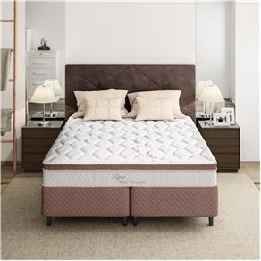 Cama Box Queen Size + Colchão Herval Capri Pillow Inn e Molas Ensacadas 64x158x198cm por R$ 899
