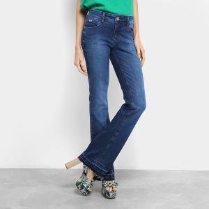 Calça Jeans Flare Colcci Estonada Barra Desfiada Cintura Média Feminina - Jeans (nº 36, 38 e 44) - R$ 264