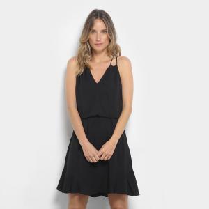 Vestido Morena Rosa Evasê Curto Básico - Preto (P e M) - R$ 240