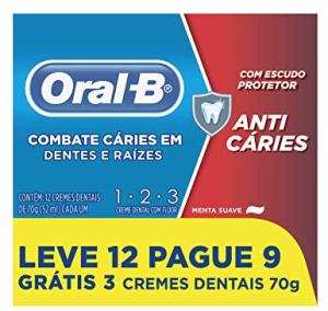 Creme Dental Oral-B 123 70g leve 12 Pague 9 | R$2