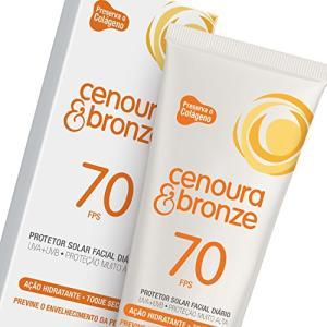 Protetor Solar Loção 50G Fps70 Facial - Cenoura e Bronze - 55%off
