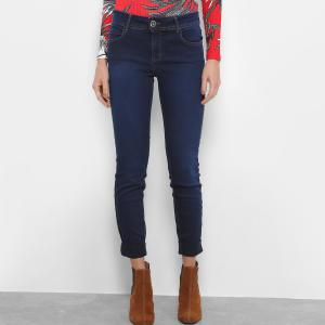 Calça Jeans Skinny Colcci Fátima Dobra Barra Cintura Média Feminina - Azul (nº 42) - R$ 115