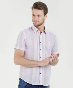 Camisa Masculina Listrada Manga Curta MR - R$35