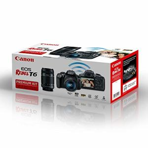 Kit Premium Canon Câmera Rebel T6 com 18-55mm e 55-250mm IS por R$ 1849