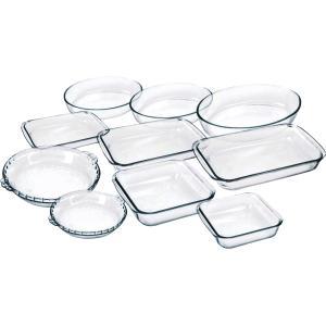 Conjunto de Assadeiras de Vidro 10 Peças - Marinex - R$107