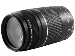 Lente Zoom Telefoto 75-300mm - Canon EF 75-300mm f/4-5.6III R$359