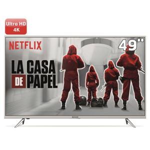 "Smart TV LED 49"" UHD 4K Semp 49K1US com HDR, Painel RGB, Wi-FI, Ginga, Miracast, Metallic Frame, Design Slim, HDMI e USB | R$1.799"