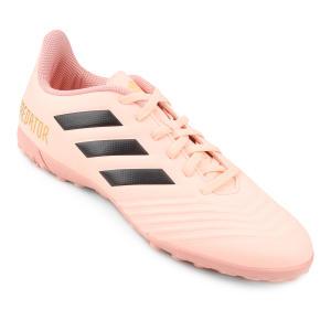 Chuteira Society Adidas Predator Tan 18 4 TF - Rosa e Preto - R$103