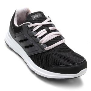 Tênis Adidas Galaxy 4 Feminino - Preto e Cinza - R$112