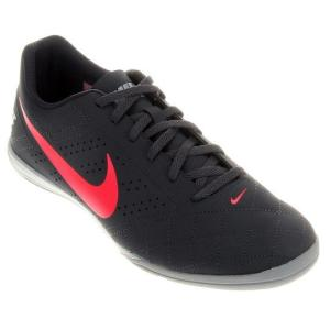 Chuteira Futsal Nike Beco 2 Futsal - Chumbo e Rosa