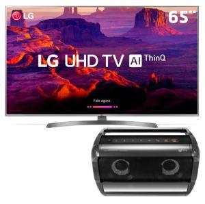 "Smart TV LED 65"" Ultra HD 4K LG 65UK6540PSB + Caixa de Som LG Xboom Go PK5 - R$4454"