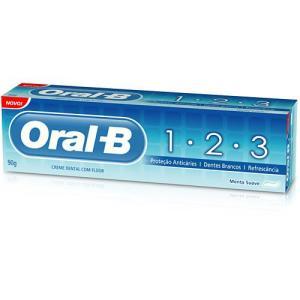 Creme Dental 1-2-3 Menta Suave 90g - Oral-B - Frete Grátis Prime - 46%off