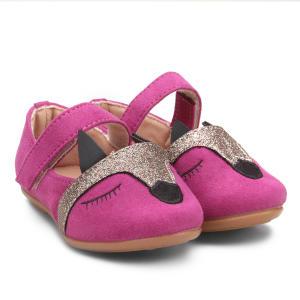 Sapatilha Zeep! Raposa Glitter Feminina - Pink | R$35