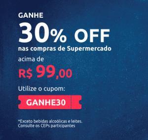 30% OFF ACIMA DE 99,00 EM SUPERMECADO