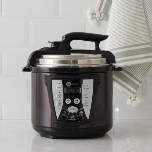 [Cartão Shoptime] Panela de Pressão Elétrica All Black 4L com 2 Anos de Garantia - Fun Kitchen - R$154