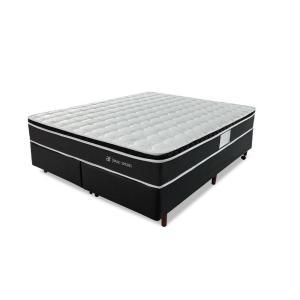 Conjunto Colchão King Molas Verticoil + Cama Box Courvin Bf Colchões | R$1.349