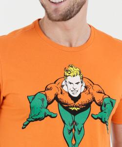 Camiseta Masculina Estampa Aquaman (Tam. G) | R$20