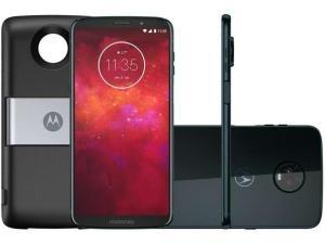 Smartphone Motorola Moto Z3 Play Power DTV Edition, Câmera Traseira Dupla, 64GB, Indigo - XT1929-5