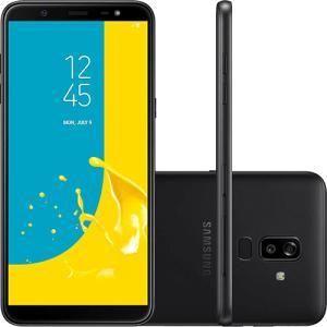 "Smartphone Samsung Galaxy J8 64GB Dual Chip Android 8.0 Tela 6"" Octa-Core 1.8GHz 4G Câmera 16MP F1.7 + 5MP F1.9 (Dual Cam) - Preto R$1099"