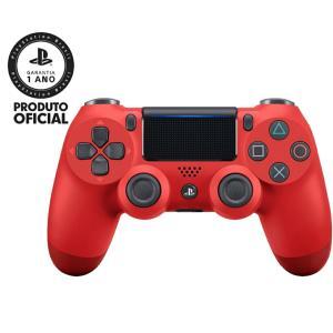 Controle sem fio Dualshock 4 Vermelho
