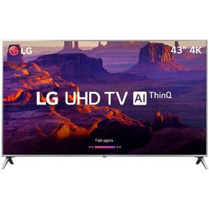 "Smart TV LED 43"" LG 43UK6510 Ultra HD 4k com Conversor Digital 4 HDMI 2 USB Wi-Fi Thinq Ai Dts Virtual X 60Hz Inteligencia Artificial"