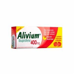 Alivium 400mg - 8 Cápsulas Gelatinosas