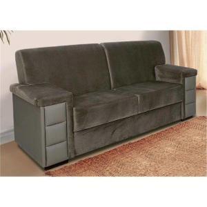 Sofa 3l Luizzi Italy Sue Vel Marrom Pu Ocre | R$475