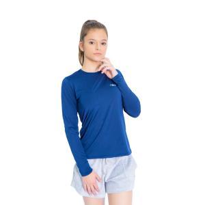 Camiseta Proteção Solar UV DRY Manga Longa Feminina Azul Marinho | R$25