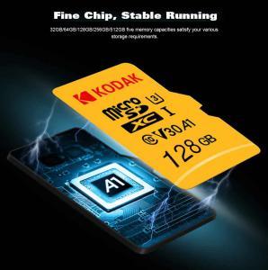 Cartão Kodak Alta Velocidade U3 A1 V30 Micro SD Card TF - Amarelo 128 GB - R$ 80