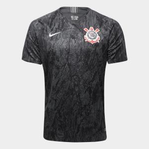 Camisa Corinthians II 18/19 s/n° Torcedor Nike Masculina - Preto