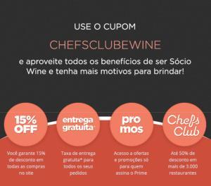 [Assinantes Chefs Club]  Wine Prime Grátis por 1 ano