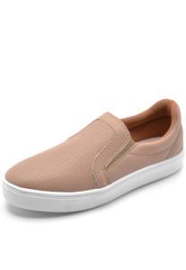 Slip On Dafiti Shoes Furinhos Nude R$42