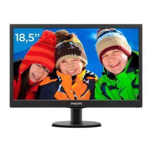 "Monitor Philips 18,5"" LED HD VGA Widescreen 193V5LSB2 por R$ 291"