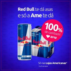 [100% de Cashback/AME/Loja Física] Energético Redbull 250ml