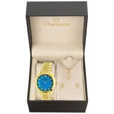 Relógio Feminino Analógico Champion CN25216Y com Kit Acessórios – Dourada - R$30
